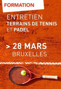 Formation | Entretien de terrains de tennis et de padel